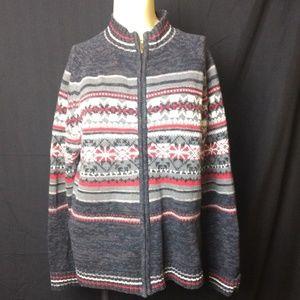 🔔Tiara Fair Isle Zip Sweater